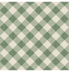 Seamless texture of green plaid vector
