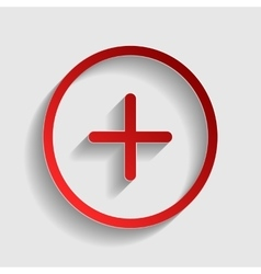Positive symbol plus sign vector image
