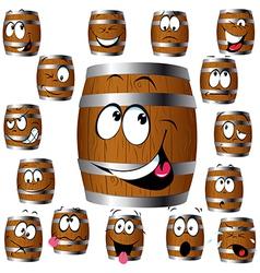 Barrel cartoon vector