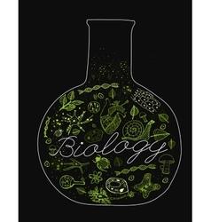 Biology lettering vector