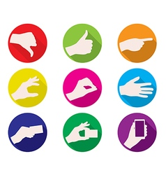 business hand gestures color icon vector image vector image