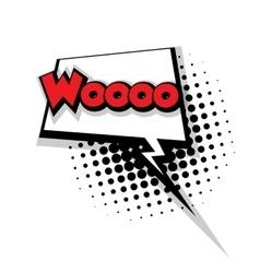 Comic text woo sound effects pop art vector