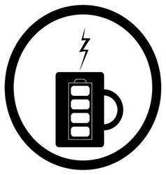 Energy mug with coffee or tea vector