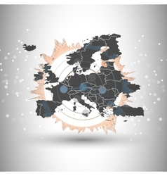 Europe map background for communication vector image