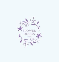 flower design sign symbol or logo template vector image vector image
