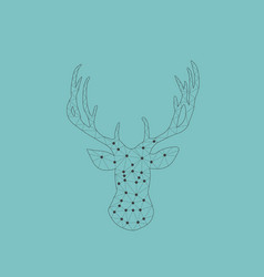 geometrical triangle raindeer vector image