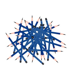 Group of sharpened pencils on white background vector