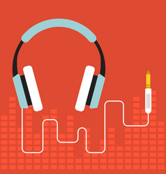 headphone flat design vector image