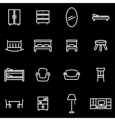 line furniture icon set vector image vector image