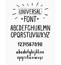 Line simple font Universal alphabet with small and vector image vector image