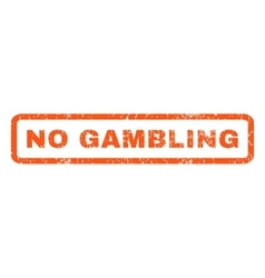 No gambling rubber stamp vector