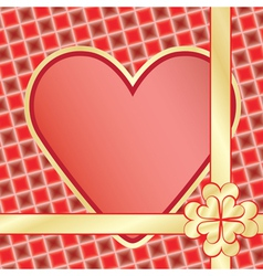 present for Day of Valentine vector image vector image