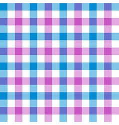 Purple blue check tablecloth seamless pattern vector image vector image