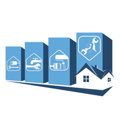 repair the house symbol vector image