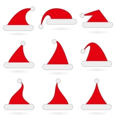 Santas hats vector image