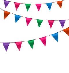 Set Colorful Buntings Flags Garlands for Holiday vector image