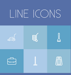 Set of 6 editable tools icons includes symbols vector