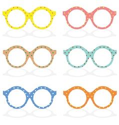 Set Of Colorful Eyeglasses vector image