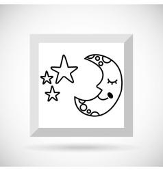 sky drawn icon design vector image