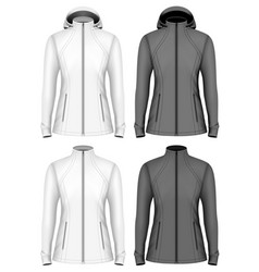 Softshell jacket for lady vector