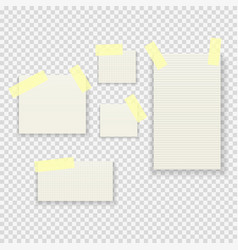 Sticky paper notes pack collection set on vector