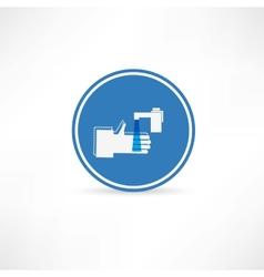 wash hands icon vector image