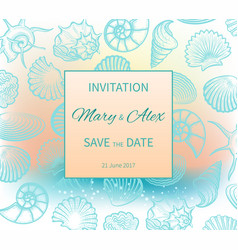 wedding on beach invitation design vector image