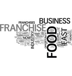 Why do some franchise owners fail text word cloud vector