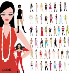 100 girls vector image vector image