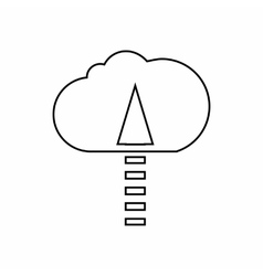 Copying files to cloud icon outline style vector