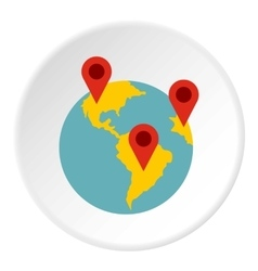 Planet gps signs icon flat style vector