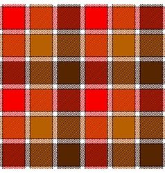 Red autumn check plaid seamless pattern vector image
