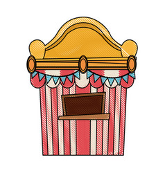 Ticket booth at the carnival entrance image vector