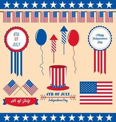 4th of july design element vector