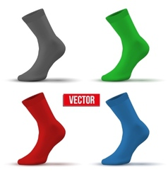 Set of different colors realistic layout socks a vector