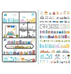 Elements of the modern city vector image