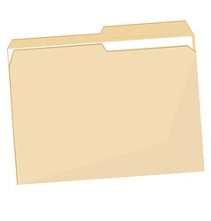 Empty file folder vector