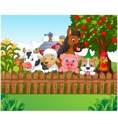 Collection farm animals vector