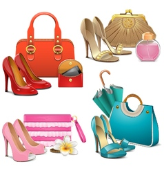 Fashion accessories set vector