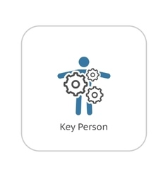 Key person icon business concept flat design vector