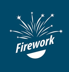 Logo abstract white fireworks vector