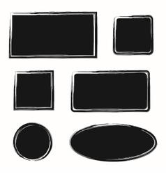 Black ink grunge texture frames vector image
