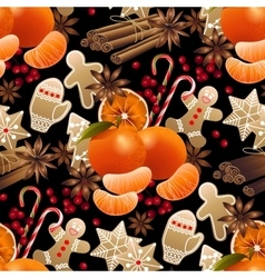 Christmas sweet pattern vector