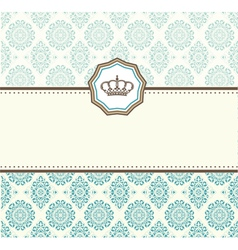 Card baroque vector