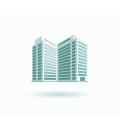 Skyscrapers house building icon vector