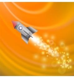Space Rocket Launching Spacecraft vector image