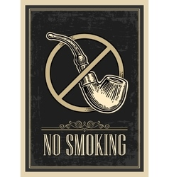 Retro poster - The Sign No Smoking in Vintage vector image
