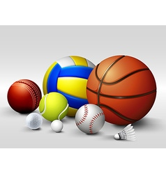 different types of balls vector image