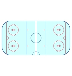 Ice hockey rink field playing infographics flat vector