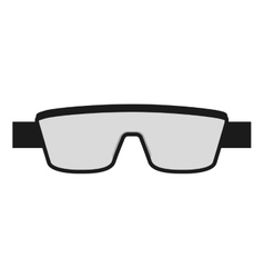 Laboratory goggles isolated icon design vector